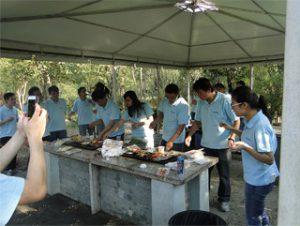 गीकुन पार्क में शरद ऋतु 2014 में बीबीक्यू