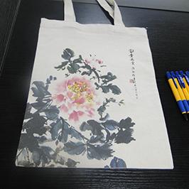A2 टी-शर्ट प्रिंटर WER-D4880T द्वारा कैनवास बैग प्रिंटिंग का नमूना