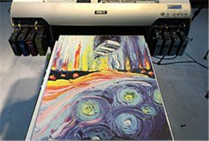 A2 UV प्रिंटर WER-EH4880UV से कैनवास का नमूना