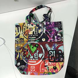 गैर-बुना बैग मुद्रण नमूना A1 डिजिटल कपड़ा प्रिंटर WER-EP6090T द्वारा