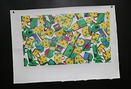 पु चमड़े का प्रिंट