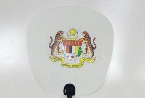 प्लास्टिक फैन का नमूना A1 आकार के यूवी प्रिंटर 6090UV द्वारा मुद्रित किया गया