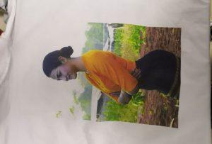 टी शर्ट मुद्रण WER-EP6090T प्रिंटर से बर्मा ग्राहक के लिए नमूना