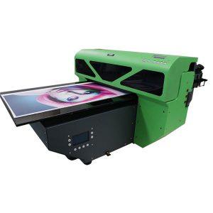 ए 2 छोटे प्रारूप 1 पीसी dx5 प्रिंट सिर के साथ यूवी फ्लैटबेड प्रिंटर