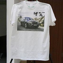 ए 3 टी-शर्ट प्रिंटर WER-E2000T 2 द्वारा सफेद टी-शर्ट मुद्रण नमूना