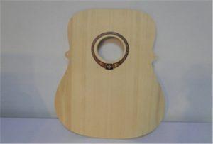 A2 आकार यूवी प्रिंटर WER-DD4290UV से लकड़ी गिटार नमूना